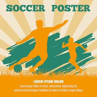サッカー選手はポスターテンプレートをベクトル化します。