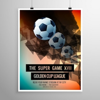 Soccer poster with balls