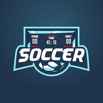 Soccer score logo team