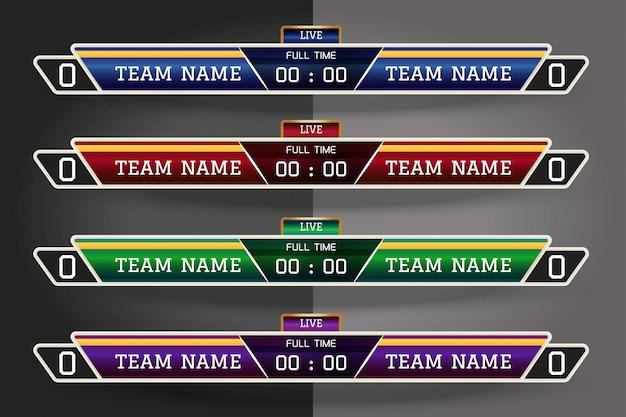 Цифровой графический шаблон для футбола