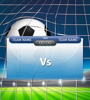 A soccer scoreboard template