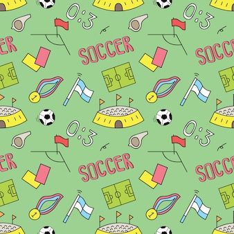 Soccer seamless background