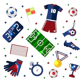 Soccer set of icons