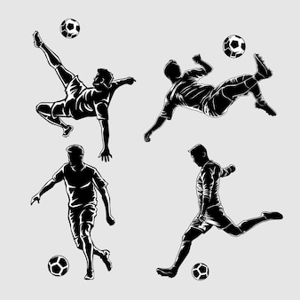 Футбол силуэт иллюстрации