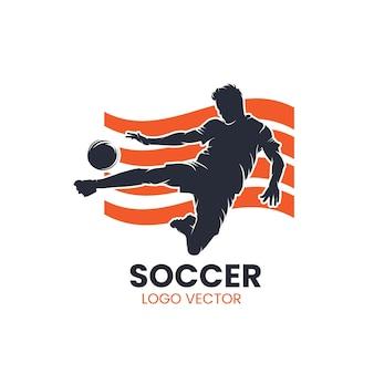 Футбол силуэт векторный логотип