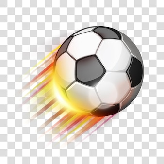 Soccer sport ball flying eps 10 editable gradients with transparency easy to put over background