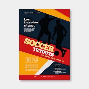 Soccer sport flyer template