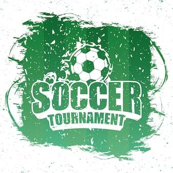 Футбольный спортивный зеленый плакат с эмблемой воздушного шара