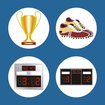 축구 스포츠 4 아이콘 설정