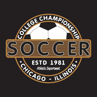 Soccer sports apparel with football ball chicago illinois college championship