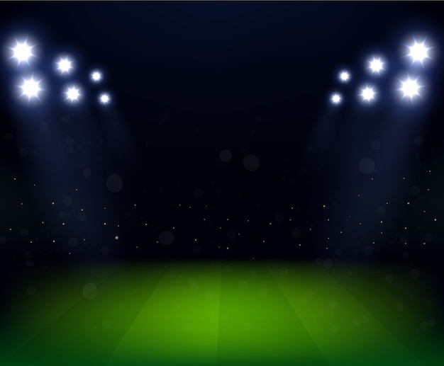 Soccer stadium celebration