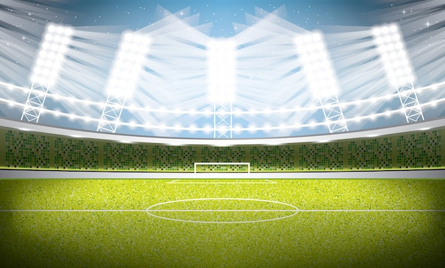 サッカースタジアム。サッカーアリーナ。図。