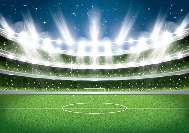 サッカースタジアム。フットボールアリーナ。