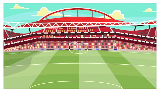 Soccer stadium illustration