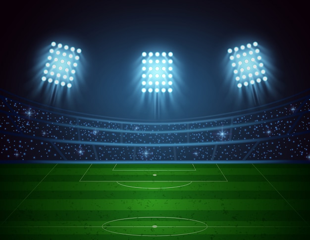 Soccer stadium. vector illustration
