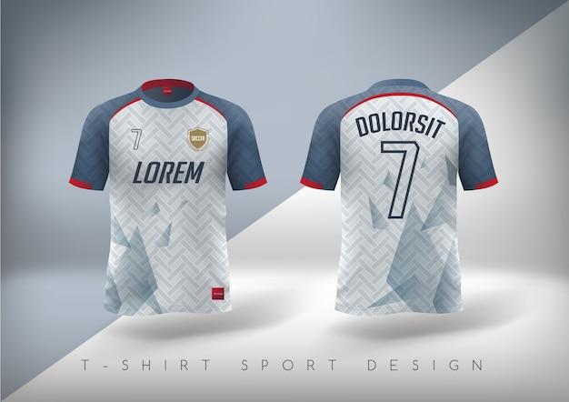라운드 넥의 슬림 핏 축구 티셔츠.