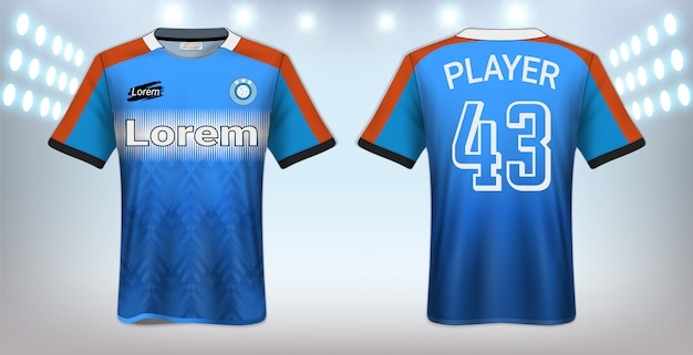 Soccer t-shirt sport mockup template
