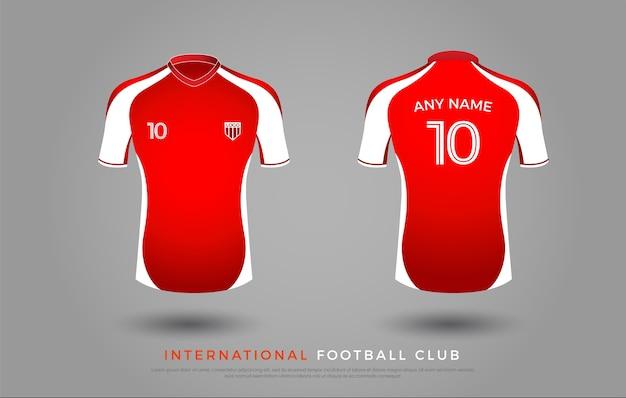 Soccer t-shirt uniform set of soccer kit. football jersey template