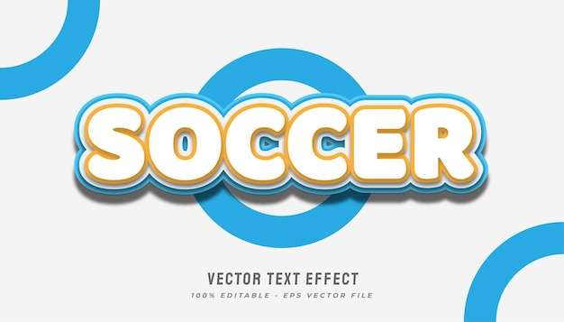 Soccer text effect in cartoon style