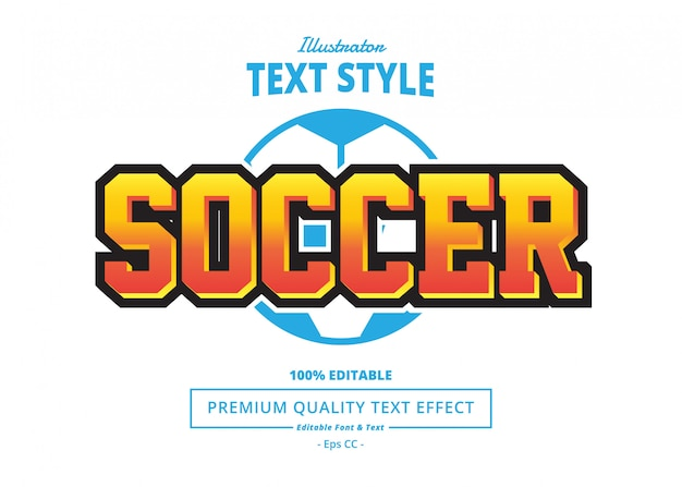 Soccer text effect Premium Vector