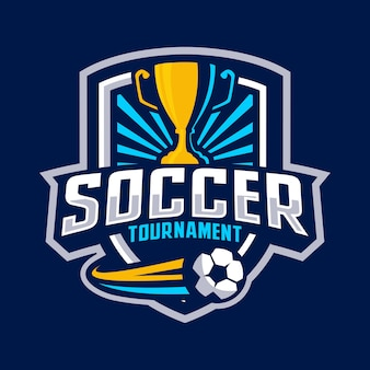 Soccer tournament badge logo