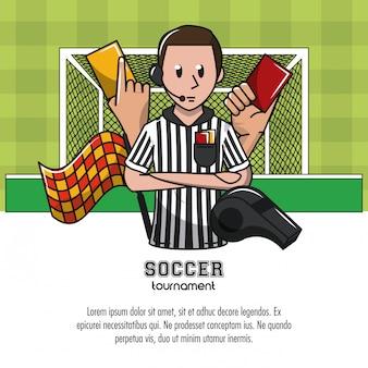 요소와 축구 대회 infographic