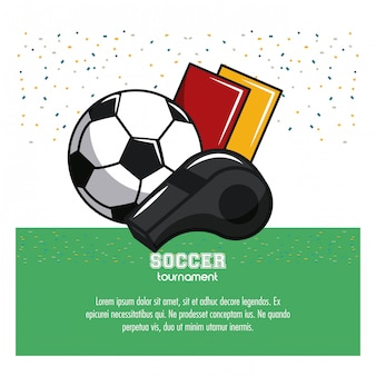 Soccer tournament infographic with elements