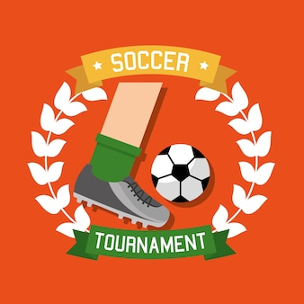 Soccer tournament sport competition banner