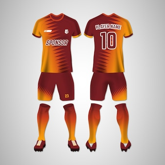 Soccer uniform front and back set