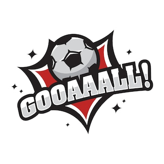 Soccer vector logo icon illustration