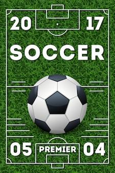 Шаблон рекламного плаката для футбола
