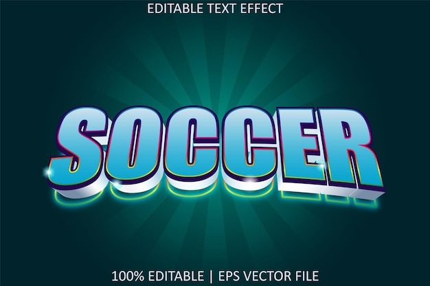 Soccer with modern style editable text effect