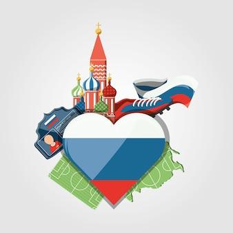 Soccer world cup russia design