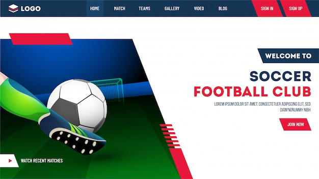 Soccerball club website.