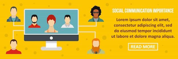 Social communication importance banner template horizontal concept