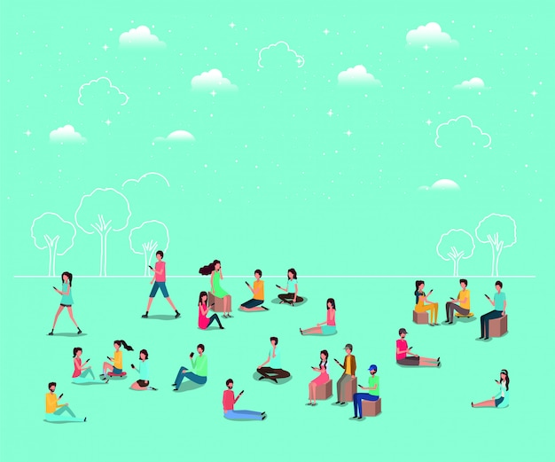 Social community using smartphones