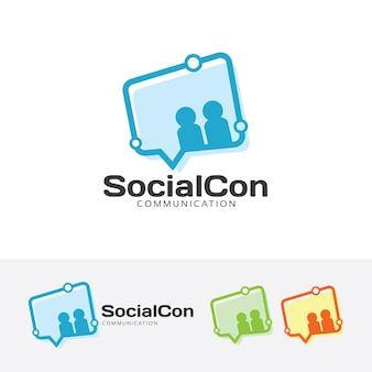 Social connect vector logo template
