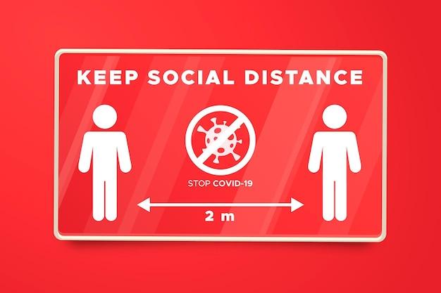 Social distance banner sign