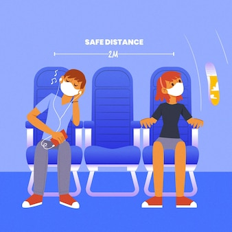 Социальная дистанция между пассажирами