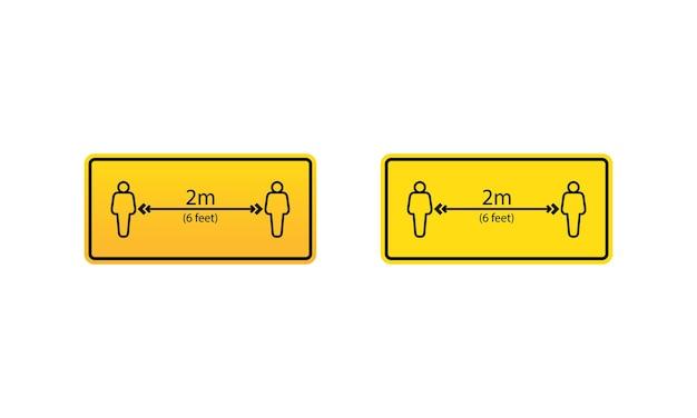 社会的距離のアイコン。公共の場で安全な距離を保ってください。孤立した白い背景の上のベクトル。 eps10。