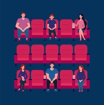 映画館での社会的距離