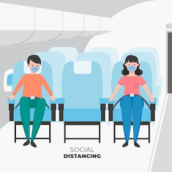Social distance measures between passengers