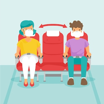 Distanza sociale tra passeggeri