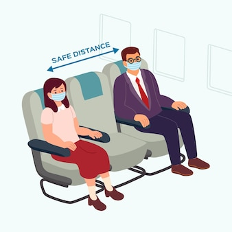 Social distance between passengers