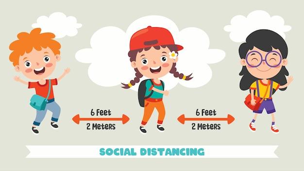 어린이를위한 사회적 거리 규칙