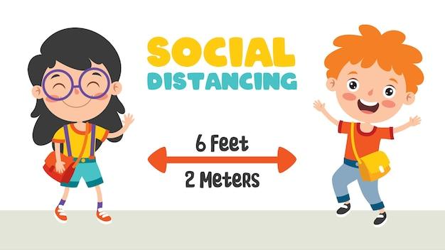 子供のための社会的距離ルール