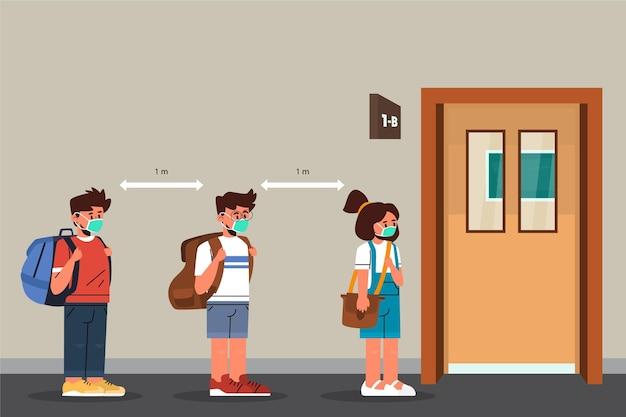 Social distance at school