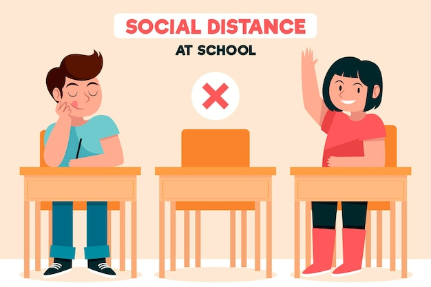 Social distance at school