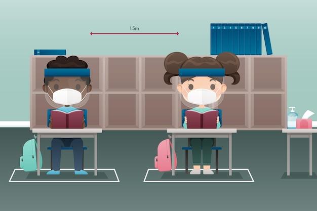 Distanza sociale a scuola