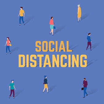 Social distancing background